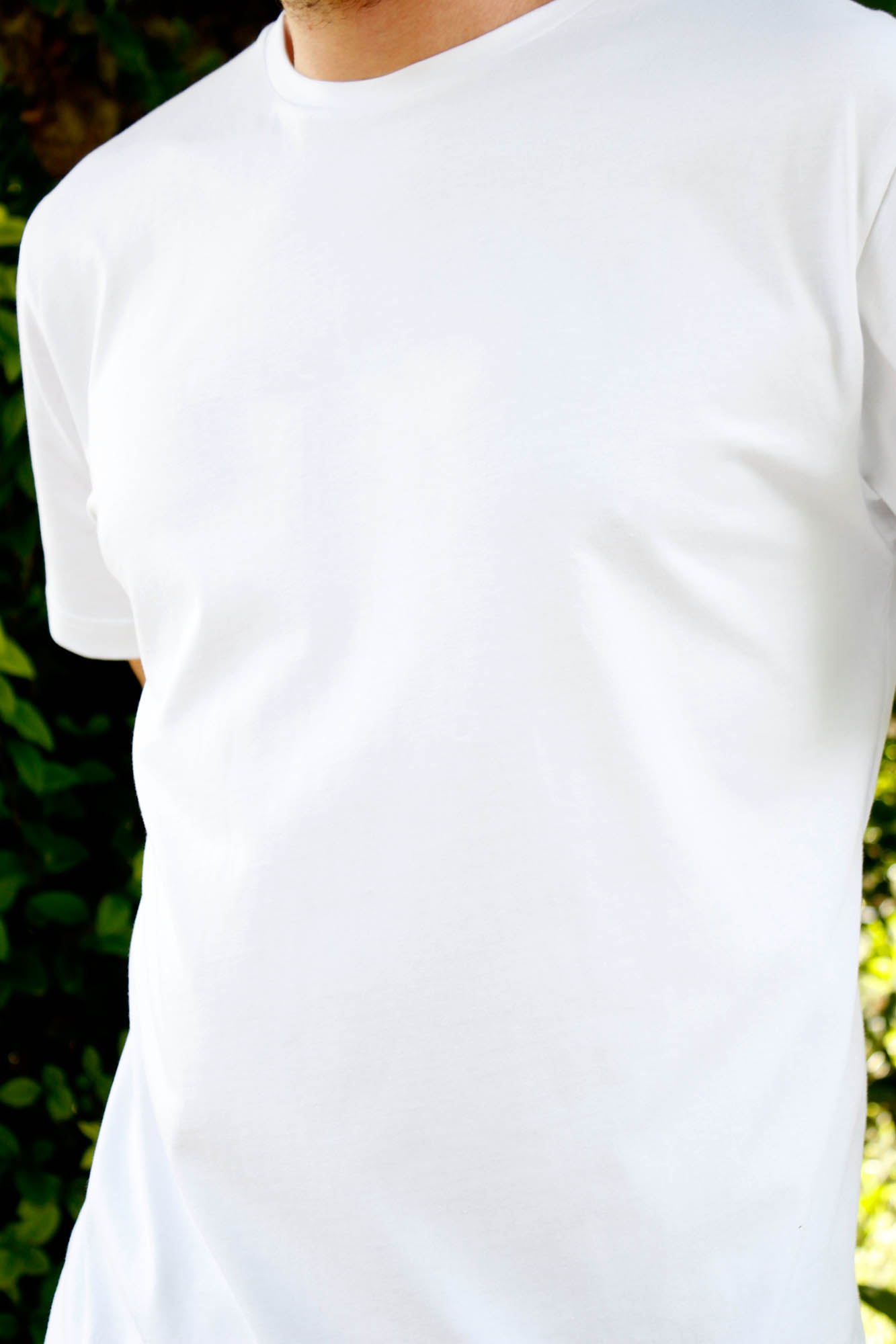 Camiseta de Algodon Orgánico Blanca