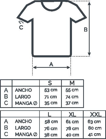 Guia de tallas polos Loobo